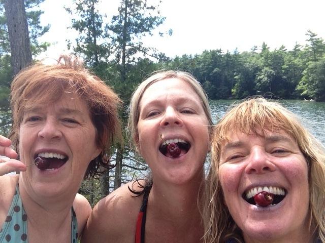 Girls Eating Summer Cherries