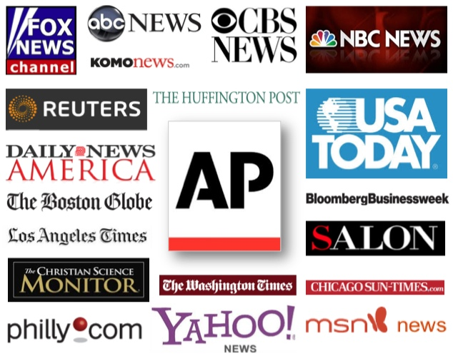 The AP's errors were repeated by the mainstream media, including these news providers. Only one of them—The Christian Science Monitor—issued a correction.